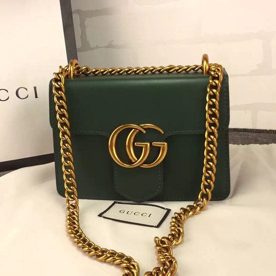 fb9cd1f8d192 Gucci Marmont Small Shoulder Bag Green. Gucci GG Marmont Leather ...