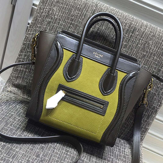 Celine Nano Luggage Original Leather Green CL180910