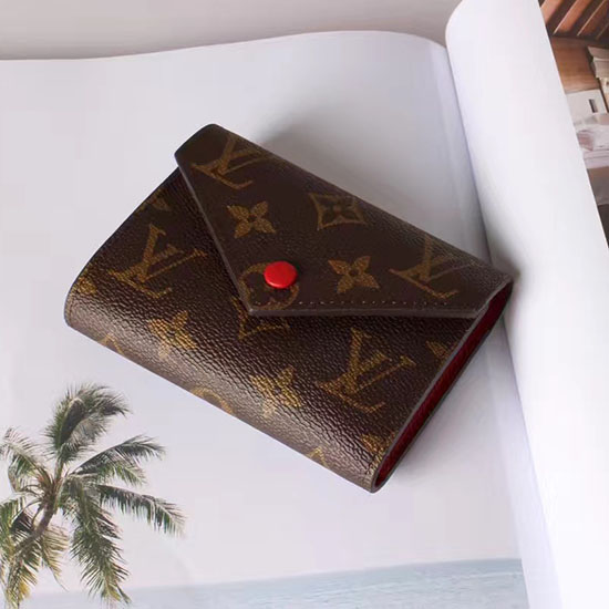 Louis Vuitton Monogram Canvas Victorine Wallet Red M41938