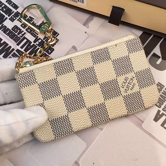 Louis Vuitton Damier Azur Canvas Key Pouch M62650