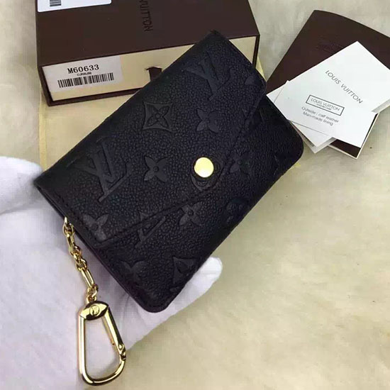 Louis Vuitton Monogram Empreinte Key Pouch Noir M60633