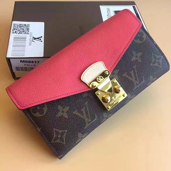 Louis Vuitton Monogram Canvas Pallas Wallet Poppy M41948
