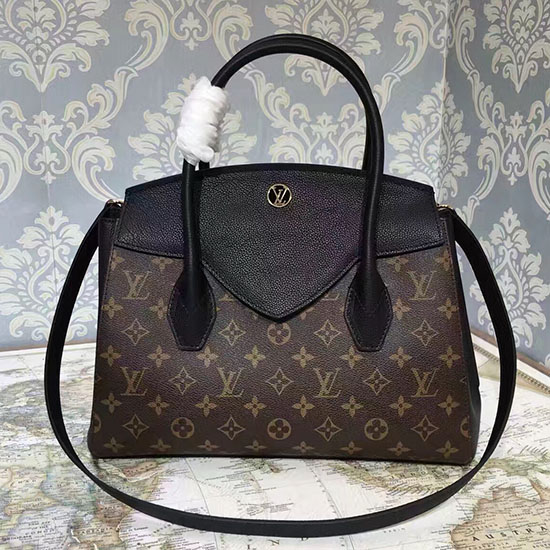Louis Vuitton Florine Bag M42269 in Monogram Canvas & Black Calfskin