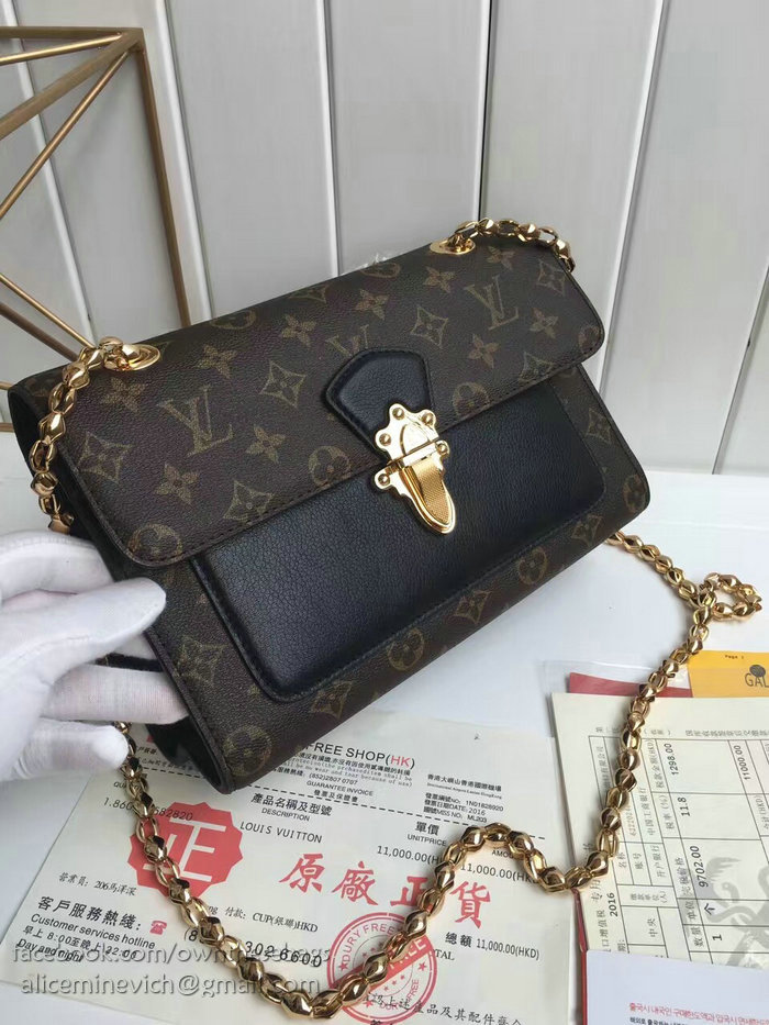 louis vuitton monogram canvas victoire bag noir m41731
