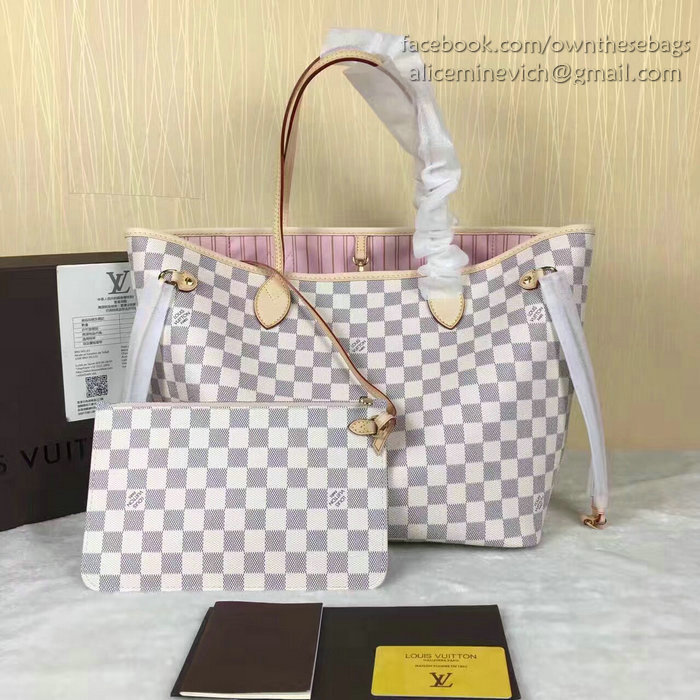 Louis Vuitton Neverfull Damier Azur Canvas