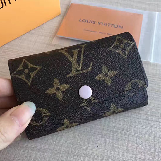 Louis Vuitton Monogram Canvas 6 Key Holder Rose Ballerine M60701