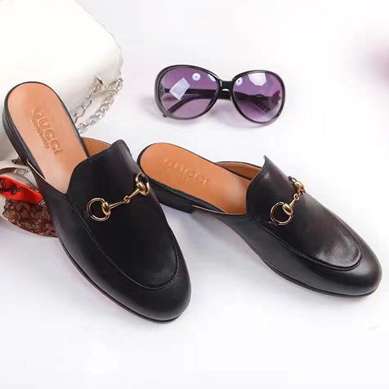 Gucci Princetown Leather Slipper Black 432773