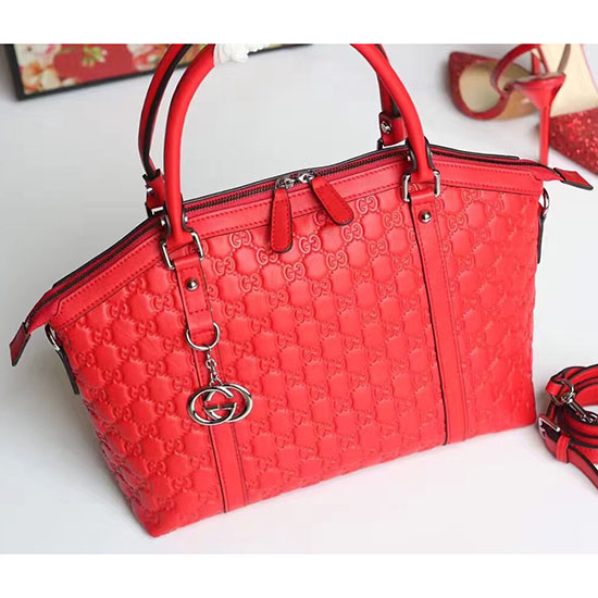 5d11d245175 Gucci Red Gucci Signature Leather Top Handle Bag 449655 ...