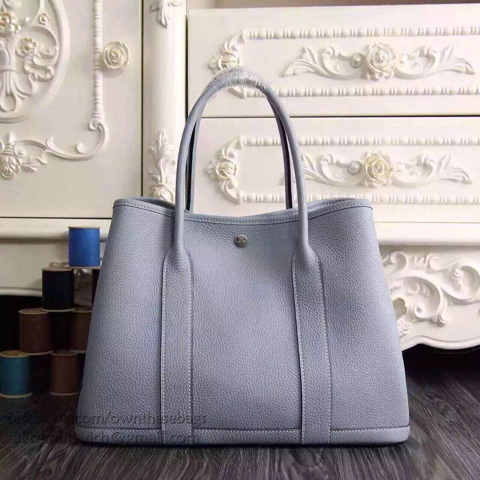 2c8c97fa05a7 ... cheap hermes garden party bag tpm toffee negonda leather silver  hardware size w36 x h24 x ...