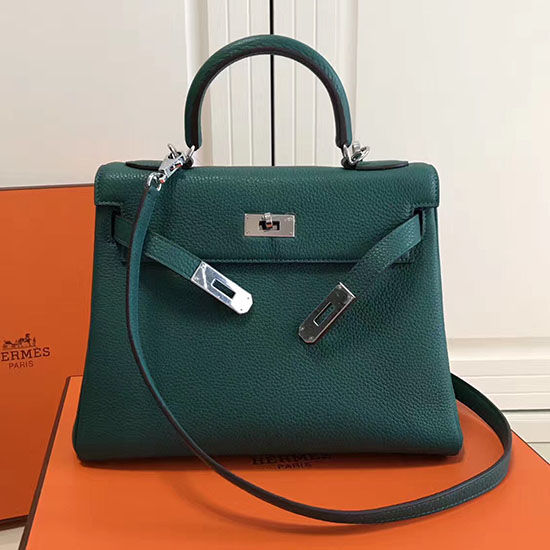 f0a4716f12187 ... wholesale hermes kelly 28 tote bag in green togo leather hk0409 ee9a9  33436