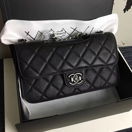 Chanel Black Quilted Deerskin Perfect Edge Bag A14041