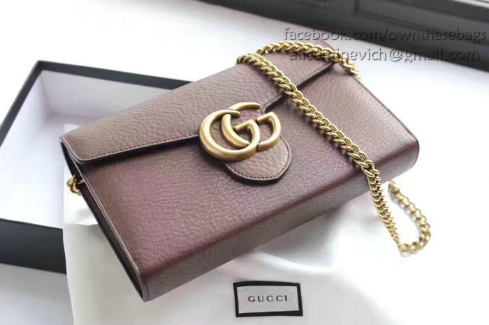 1e3c039cd2f6c6 Gucci Gg Marmont Leather Mini Chain Bag 401232 | Stanford Center for ...