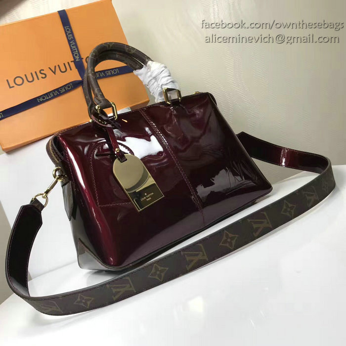 Louis vuitton patent leather tote miroir amarante m54639 for Louis vuitton miroir speedy