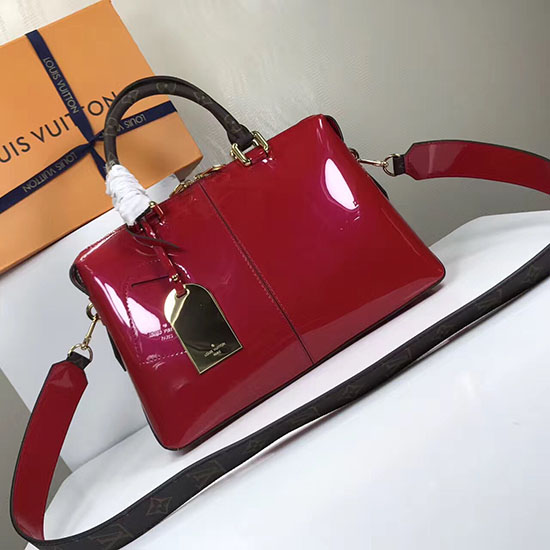 Louis vuitton patent leather tote miroir red m54639 for Miroir activation code