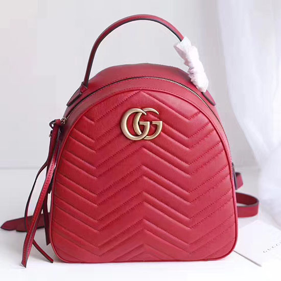 2e7aaa136d46 Gucci Gg Marmont Quilted Leather Backpack Bag 476671 | Stanford ...