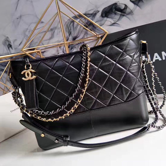 Chanel Chanel's Gabrielle Hobo Bag Black A93824