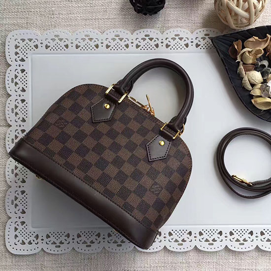 a8c759d32ac5 Louis Vuitton Damier Ebene Canvas Alma BB Bag N41221