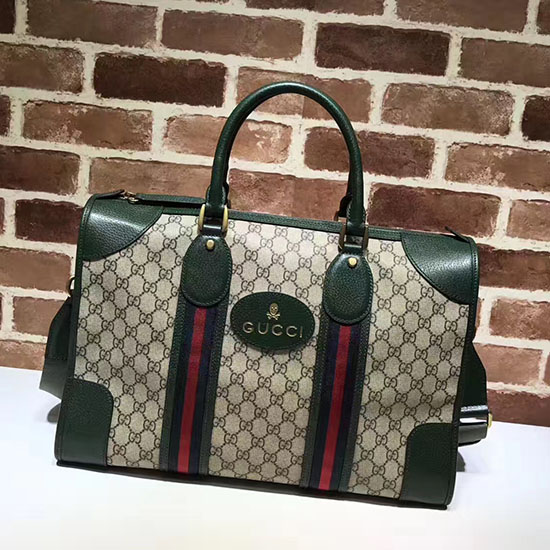 7658a524475b Gucci Soft Gg Supreme Duffle Bag With Web 459311 | Stanford Center ...