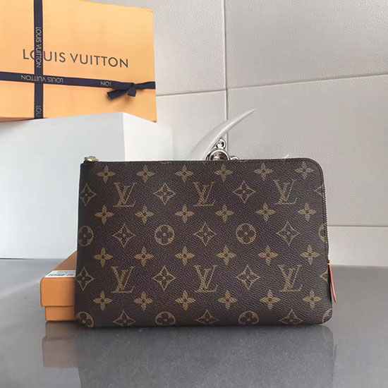 louis vuitton monogram canvas etui voyage pm brown m44148. Black Bedroom Furniture Sets. Home Design Ideas