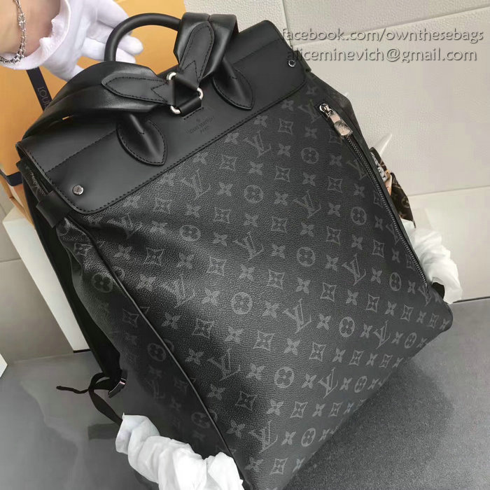 223f0f964a33 Louis Vuitton Monogram Eclipse Canvas Steamer Backpack M44052