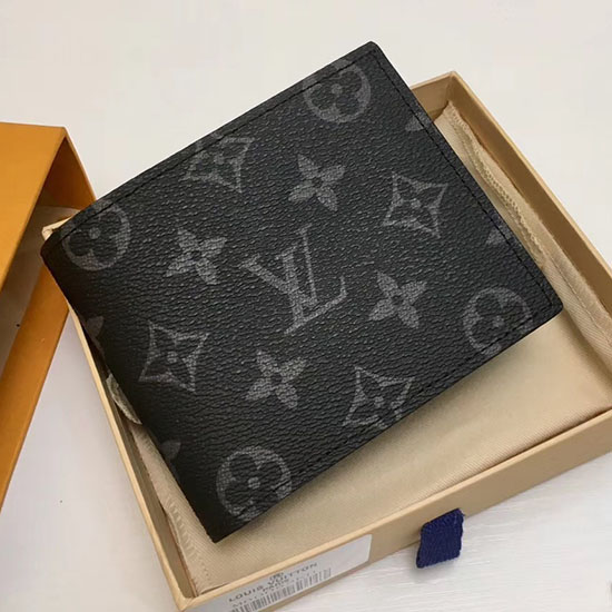4a4900fcb467 Louis Vuitton Monogram Eclipse Canvas Amerigo Wallet M60053
