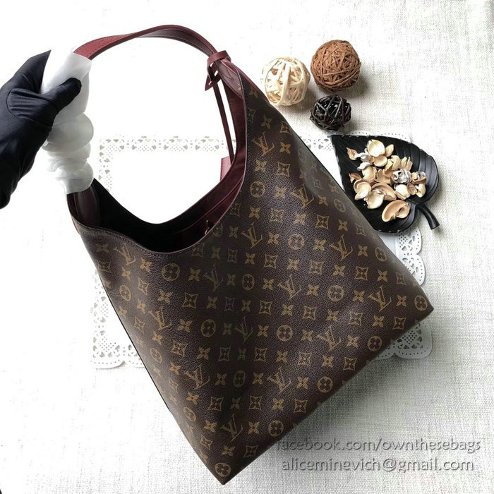 louis vuitton monogram canvas flower hobo bordeaux m43546