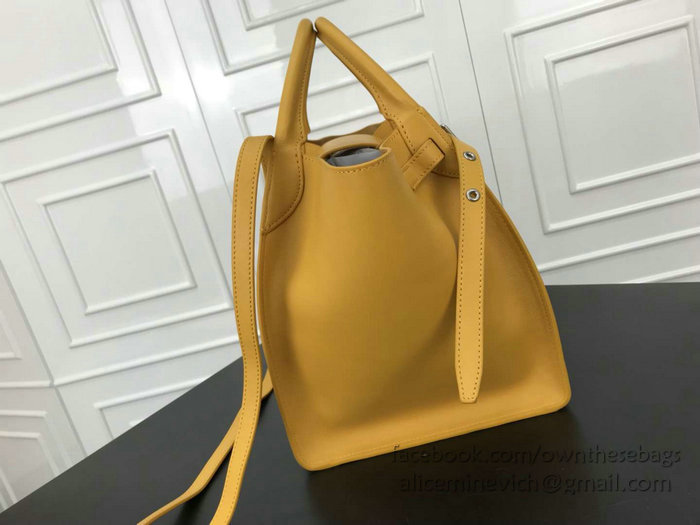 8e69253aef8f Celine Small Big Bag With Long Strap in Smooth Calfskin Yellow 183313 -  Smooth Calfskin Size  W24 x H26 x D22 cm (1