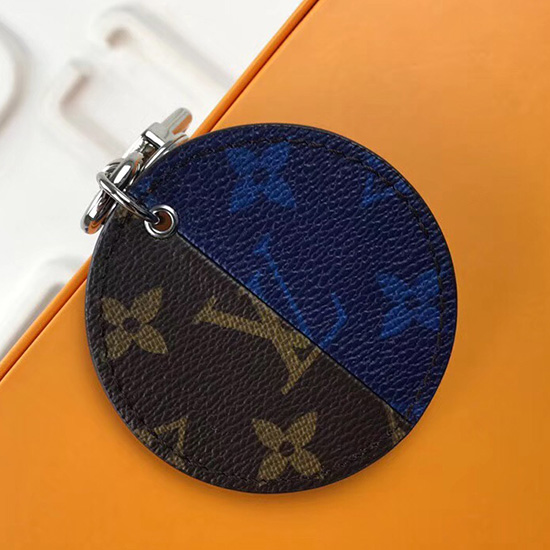 Louis Vuitton Monogram Split Bag Charm and Key Holder Blue MP1962