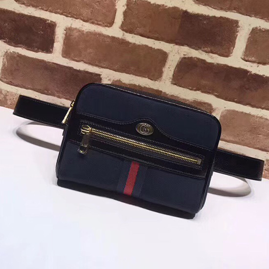 8e1c91f4eb9174 Gucci Ophidia Gg Supreme Small Belt Bag 517076 Dark Coffee ...